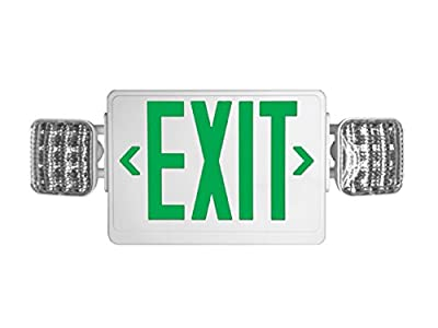 Howard Lighting HL03143GW Exit Sign/Emergency Light Combo