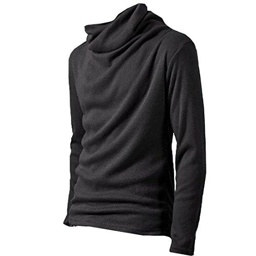 多数の使用法順応性ONE LIMITATION(ワン リミテーション) タートルネック 長袖 ハイネック Tシャツ カットソー ロンT メンズ TN001