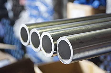 """1/"""" x 1/"""" x 10/"""" x 0.049/"""" Wall 18 Gauge 304 Stainless Steel Square Tube  Lot of 5"""