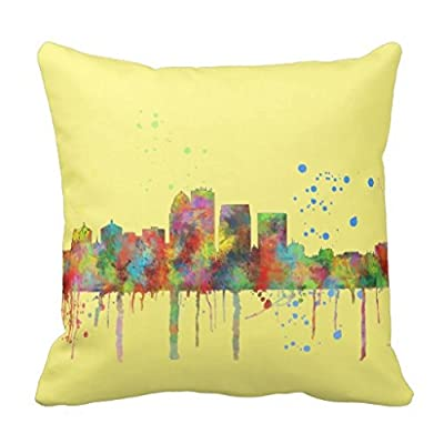 Louisville Kentucky Skyline Pillow Case