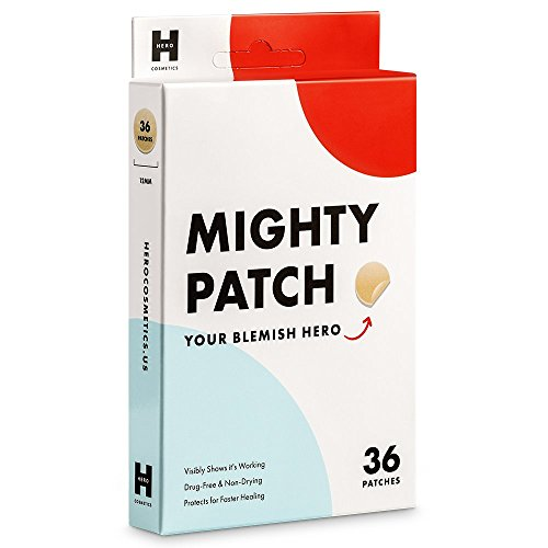 Mighty Patch Hydrocolloid Acne Absorbing Spot Dot (12mm 36 (Color Protect Leave)