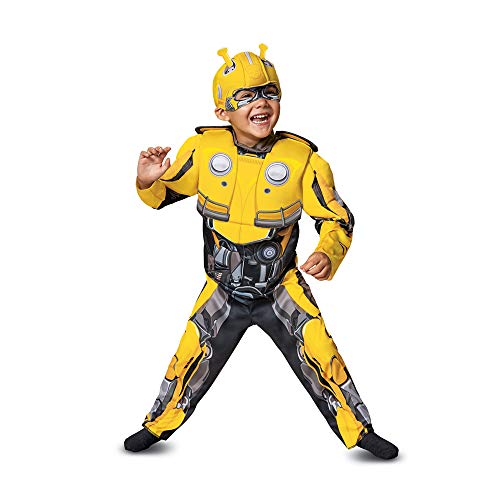 Disguise Bumblebee Toddler Muscle Child Costume, Yellow, Medium/(3T-4T) -