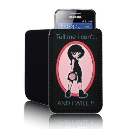 Biz-E-Bee Phonecase exclusif Samsung Galaxy Beam 'Tell Me I NE Peut pas..' (M)–résistant aux chocs Housse en néoprène, Housse, pochette