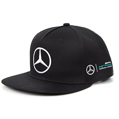 negro AMG Petronas Flat RP size Cap MAMGP Black Brim Hombre Negro Hamilton Mercedes One UCn5qxOO