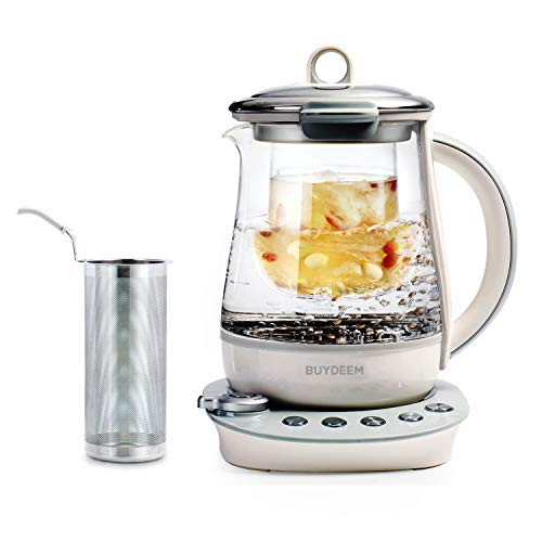 - Buydeem K2683 Health-Care Beverage Tea Maker and Kettle, 9-in-1 Programmable Brew Cooker Master, 1.5 L, Gray
