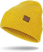 Knit Beanie Hats for Men Women, Stretchy Soft Warm Daily Cuffed Winter Hat, Gifts for Men Husband Him