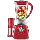 Liquidificador Power Red Filtro, 550W, Copo de 1,9L, 127V, Vermelho, Mondial, L-77