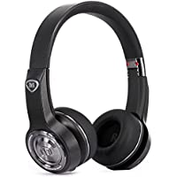 Monster Elements On-Ear Wireless Bluetooth Headphones with Built-in Mic (Black Slate or Rose Gold)