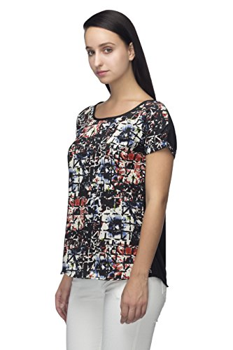 fafe30e56ed Iindietoga Designer Crepe Black Multi Colored Abstract Printed Casual Tops  for Girls  Amazon.in  Clothing   Accessories