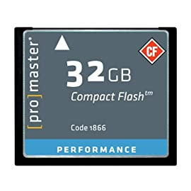 Promaster Performance 32GB Compact Flash Card, 150X 50 500x / 66 MB/s Transfer Rate 32GB Capacity Lifetime Warranty
