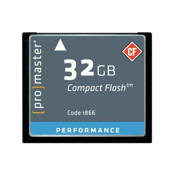 Promaster Performance 32GB Compact Flash Card, 150X 1 ProMaster CF 32GB Performance