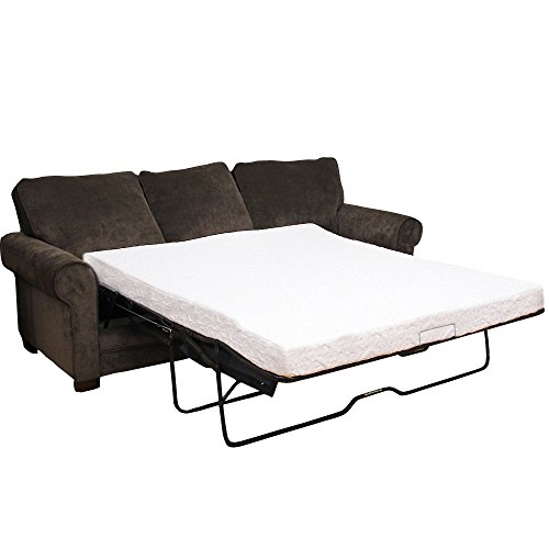 Classic Brands Cool Gel Memory Foam Replacement Sofa Bed 4.5-Inch Mattress, Queen