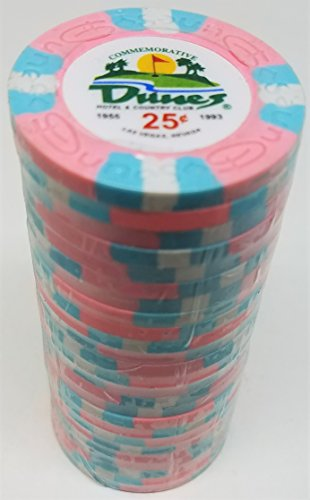 (Poker Chips - (25) 25¢ Dunes Commemorative 9 gram Clay)