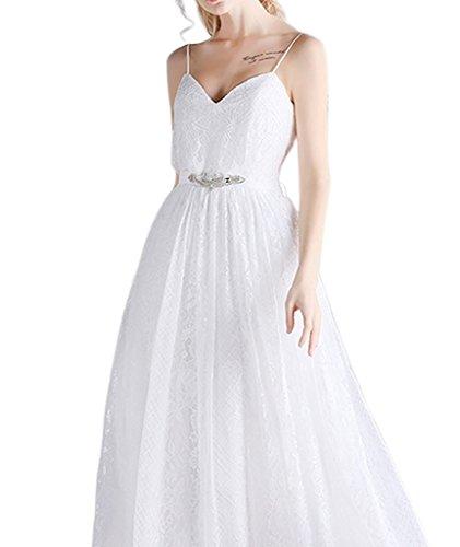 Ysmo - Vestido - trapecio - para mujer White A