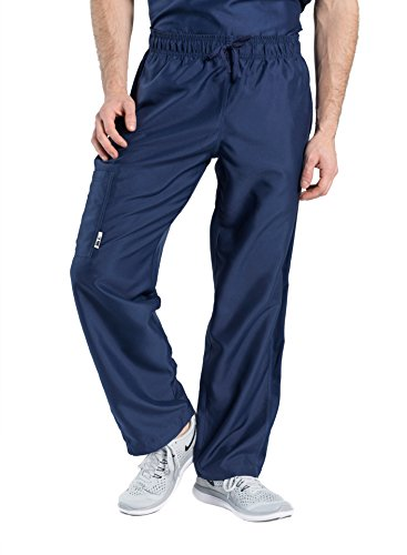 TiScrubs Men's Relaxed Fit Cargo Pocket Scrub Pants