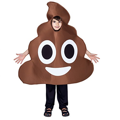 flatwhite Children Unisex Emoticon Costumes One Size (Poop)