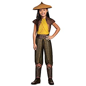 Disguise Disney Raya and The Last Dragon Classic Girls Costume, Brown & Green