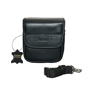 Original Nikon Genuine Soft Leather Carrying Case With Handle & Adjustable Shoulder Strap (Model 05700) For The Nikon COOLPIX L820 L830 P520 P530 P7800 & All Nikon 1 AW1 J1 J2 V1 V2 S1 J3 Mirrorless Cameras