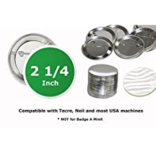 """100 Pk - 2.25 inch Diameter Pin Buttons Sets for Badge Making Metal Parts 2 1/4"""" (56 mm)"""