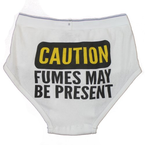 CAUTION: FUMES Whitey Tighty Novelty Underwear / Funny Gag Briefs