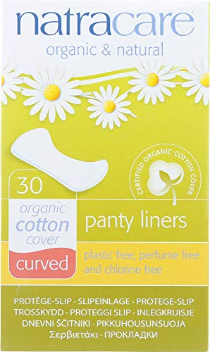 ((NOT A CASE) Organic and Natural Panty Liners Cotton Cover Curved, 30 Liners )