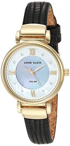 Anne Klein Considered Women's Swarovski Crystal Accented Vegan Leather Strap Watch, AK/3660