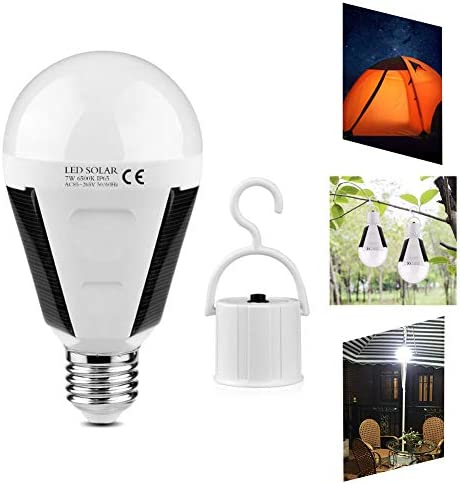 Rechargeable Solar Night Lamp LED Emergency Light Outdoor Camping Hanging Bulb