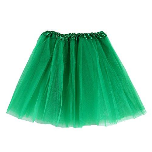 Tutu de danse MIOIM? pour filles - Mini-jupe - Jupon - Tailles varies pour adultes et enfants Grn1