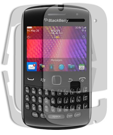 BlackBerry Curve 9360 Screen Protector + Full Body, Skinomi TechSkin Full Coverage Skin + Screen Protector for BlackBerry Curve 9360 Front & Back Clear HD Film (Blackberry Curve 9360 Accessories)