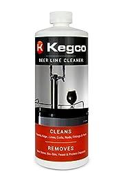 Kegco Beer Line Cleaner for Kegerators - 32 oz Bottle