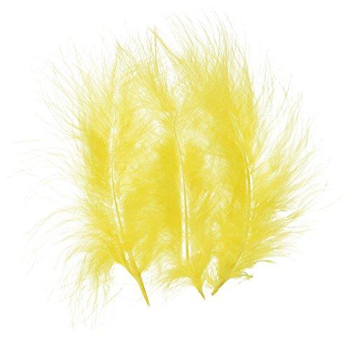 ZUCKER Loose Turkey Marabou Dyed Feathers - Yellow