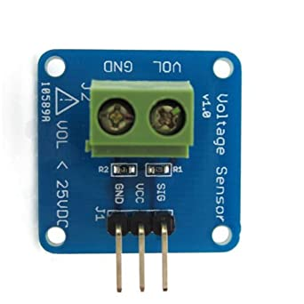1PCS DC Voltage Sensor Module Voltage Detector Divider for Arduino: Amazon.com: Industrial & Scientific