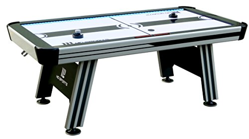 MD Sports Air Hockey Table for Adults and Kids, with LED Lights and Sound Effects - Multiplayer Air Powered Hockey Tables for Home, Bar, Arcade, Lounge, Billiard Room, Game Room - Includes Accessories