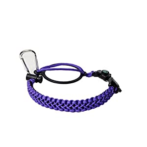 Best Hydro Flask Paracord Handle -WaterFit Paracord Carrier Survival Strap Cord with Safety Ring and Carabiner for Hydro Flask Nalgene CamelBak Wide Mouth Water Bottles 12oz - 64 oz (DoublePurple)