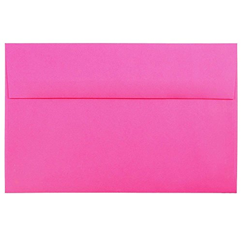 - JAM PAPER A10 Colored Invitation Envelopes - 6 x 9 1/2 - Ultra Fuchsia Pink - 50/Pack