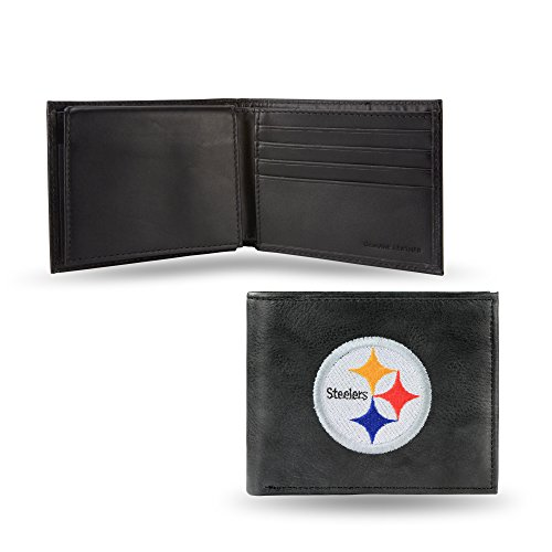 NFL Pittsburgh Steelers Embroidered Leather Billfold Wallet -