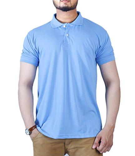 (Polo Men's Classic Short Sleeve Solid Shirt – Stylish, Fashionable with Striking Colors (Medium, California Blue))