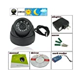 FINICKY WORLD (TM) CCTV Dome 24 IR Night Vision Camera DVR with Memory Card Slot Recording (USB) Pack of 2 ( buy 1 get 1 free )