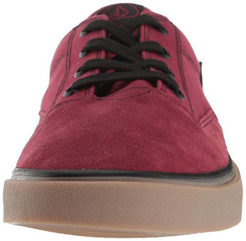 Lo Bur Homme burgundy Skateboard Shoe Volcom Chaussures Draw Suede Rouge De pqxz5v