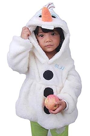 アナと雪の女王衣装 子供用 オラフ風 着ぐるみ コート ハロウィン コスプレ (100cm)