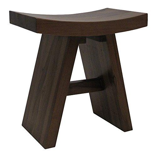 Redmon Teak Asian Style Shower Bench Wood Grain