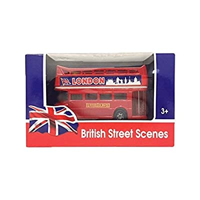 Motormax London Double Decker Bus Open Top 4.75 inch Long diecast Model Bus 76008: Toys & Games