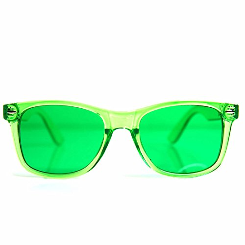 GloFX Green Color Therapy Glasses Chakra Glasses Relax - Lenses Color Green