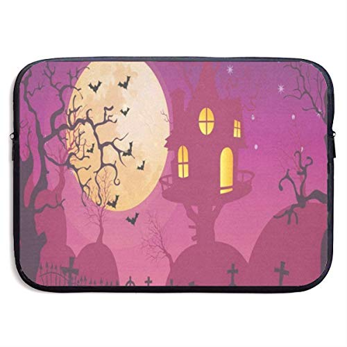 Funny Design Halloween Moon Party Laptop Sleeve Waterproof Neoprene Diving Fabric Protective Briefcase Laptop Bag for IPad, Notebook/Ultrabook/Acer/Asus/Dell]()