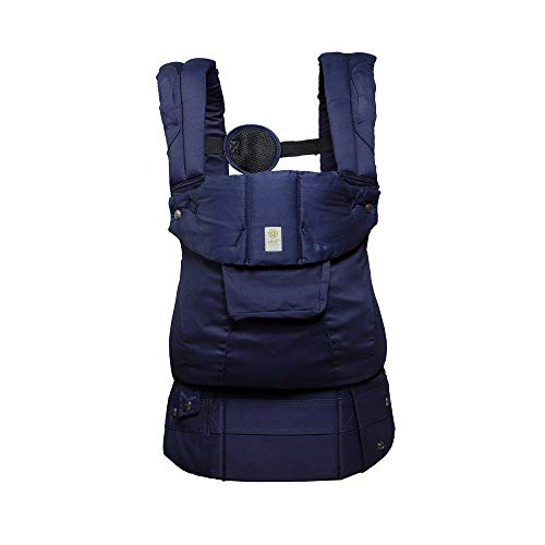LÍLLÉbaby Complete Organi-Touch SIX-Position Ergonomic Baby & Child Carrier, Blue Moonlight - Organic Cotton