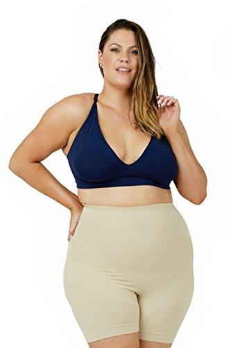 Sonsee Anti Chafing Shapewear Shorts Plus Size Women (Nude, Stunning 18-20)