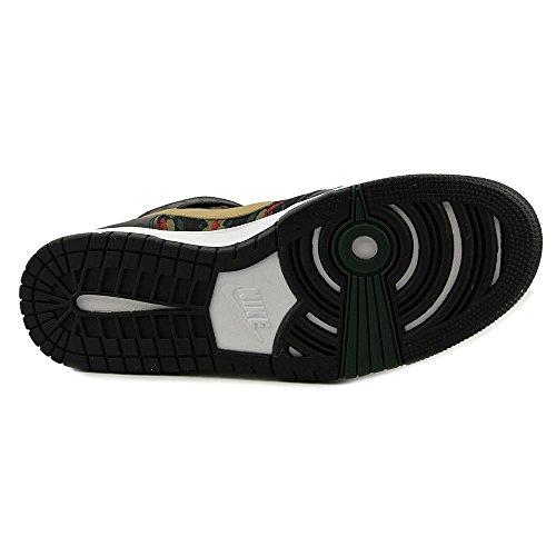 Nike Men's Dunk CMFT Prm Qs Black/Flt Gold Hypr Rd Grg Grn Basketball Shoe 8 Men US by NIKE (Image #1)