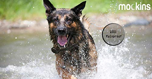 Mockins 100% Rainproof Rechargeable Electronic Remote Dog Training Shock Collar Beep Vibration - E-Collar 330 Yards (990 ft) Distance … … … … … … by Mockins (Image #3)