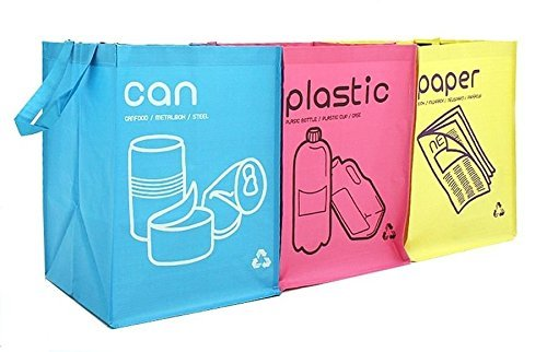 Recycle Separate Waterproof Compartment Container for Kitchen and Home (Pastel Color)