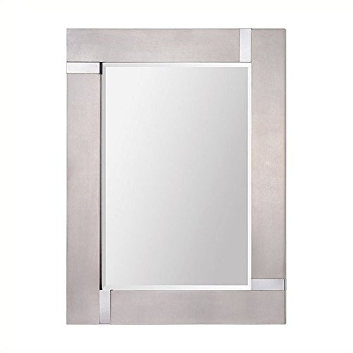 Ren-Wil Capiz Wall Mirror, - Pearl Framed Mirrors Bathroom Mother Of
